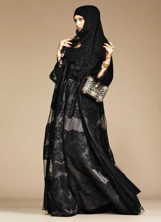 Black net lace formal party wear abaya with hijab styles