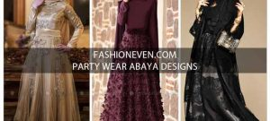 Black golden and purple formal party wear abaya with hijab styles for girls