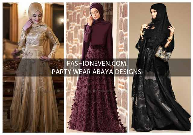 Formal Party Wear Abaya With Hijab Styles 2019