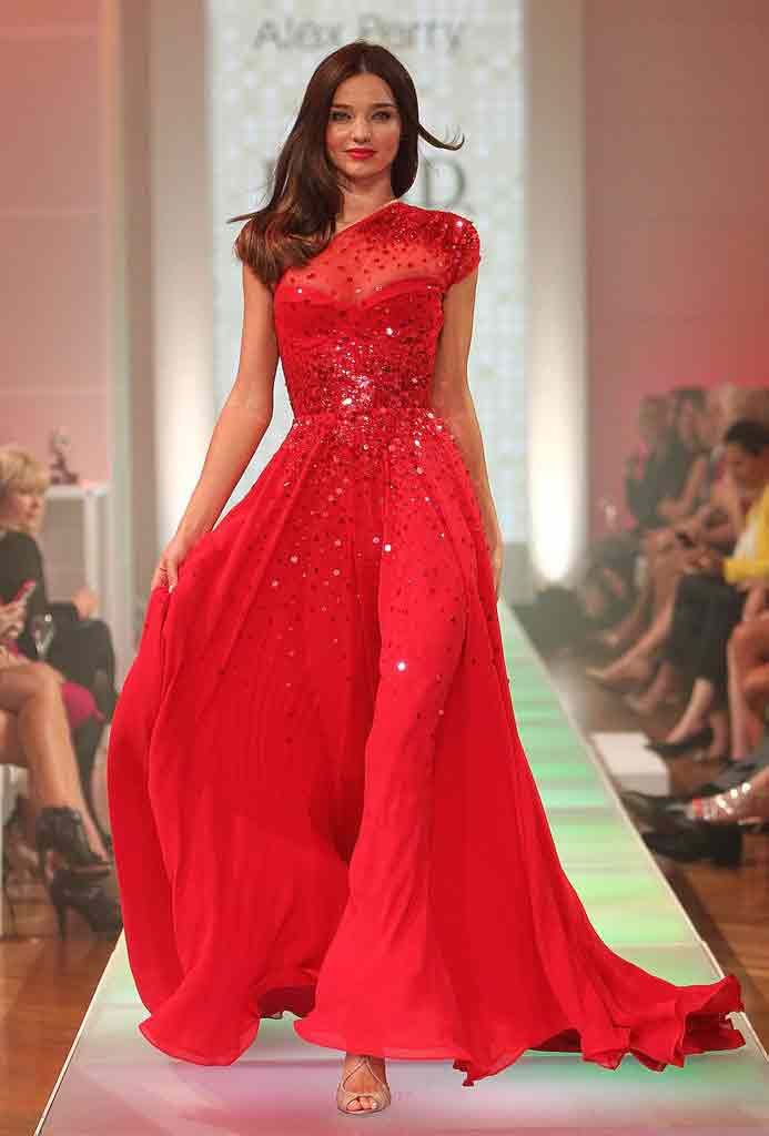 Red party wear long tail frock designs for Pakistani girls
