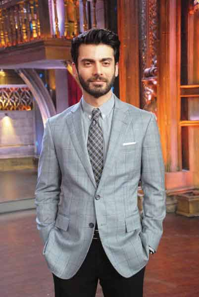 Fawad khan in grey shirt and tie combinations with grey suits in Pakistan