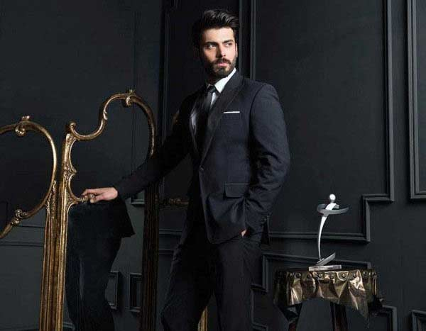 Fawad khan white shirt and black tie combinations with black suits
