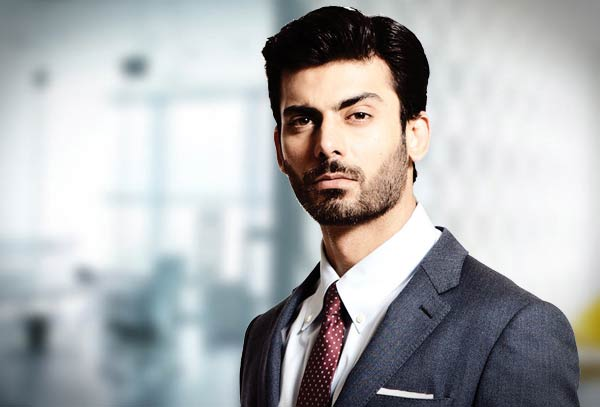 Fawad khan in white shirt and maroon tie combinations with grey suits in Pakistan