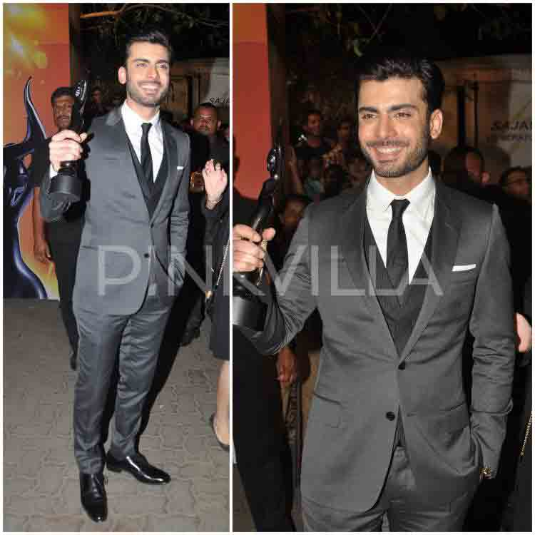 Fawad khan in white shirt and black tie combinations with grey suits in Pakistan