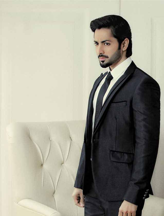 Danish Taimoor in white shirt and black tie combinations with black suits in Pakistan