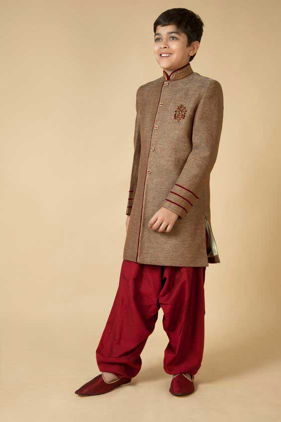 Latest kids sherwani designs for wedding