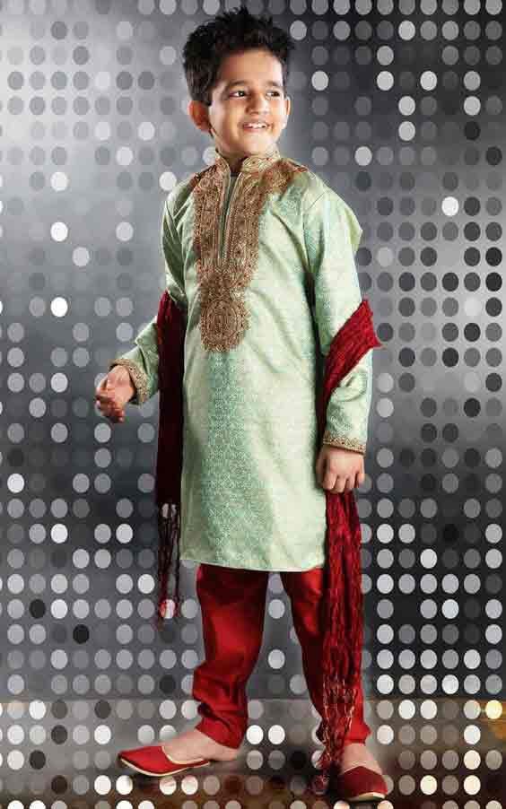 Latest light green and red sherwani designs for kinds