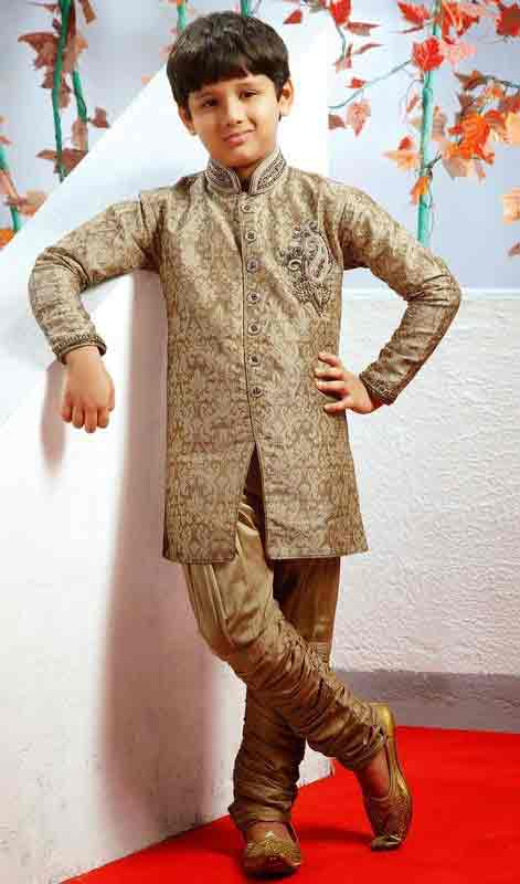 Green sherwani designs for kids