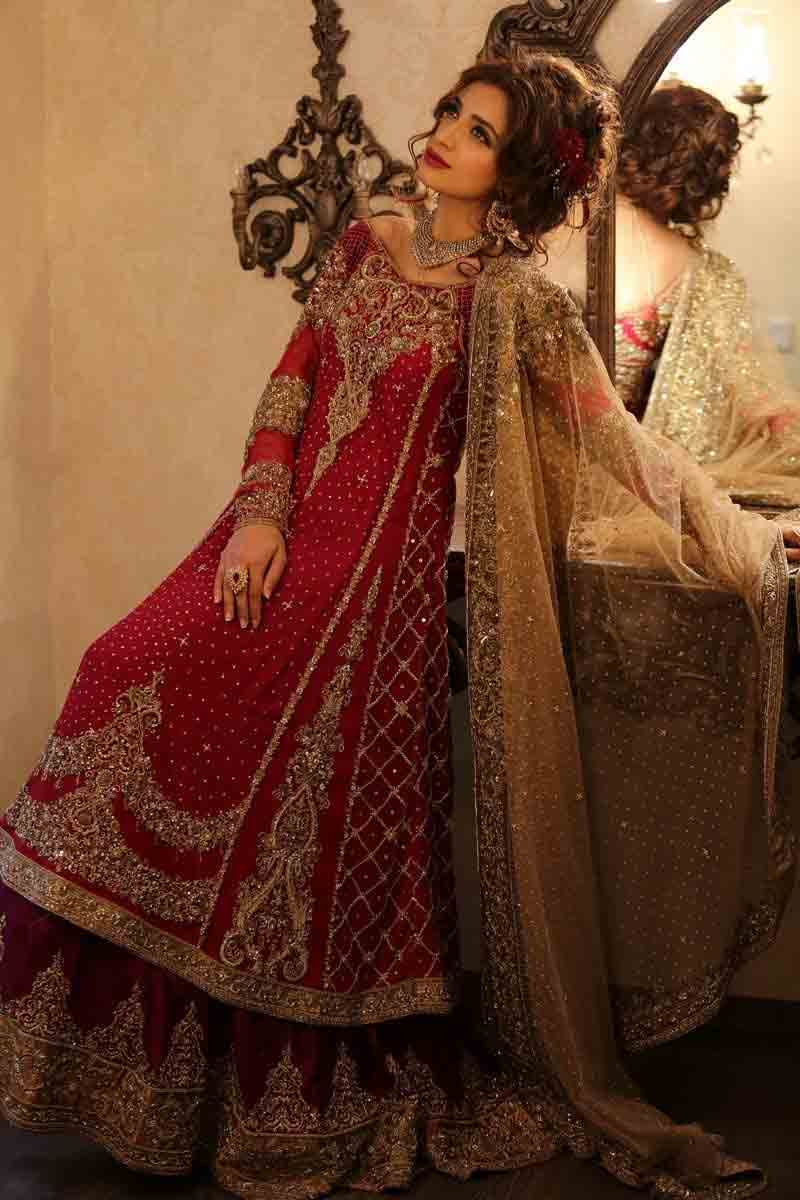 75620d36b8 Pakistani-bridal-dresses-in-red-and-golden-color-21 – FashionEven