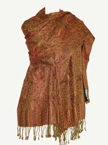 Ladies pashmina shawls in brown color for winter season