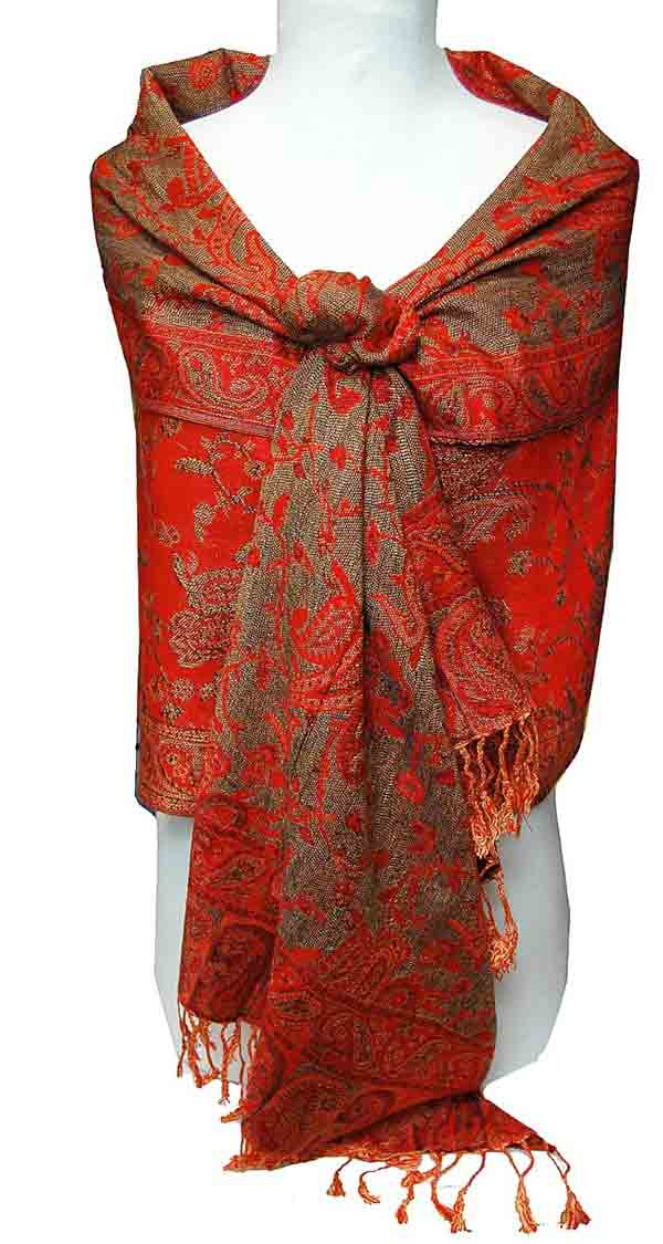 Red pashmina shawls for winter season