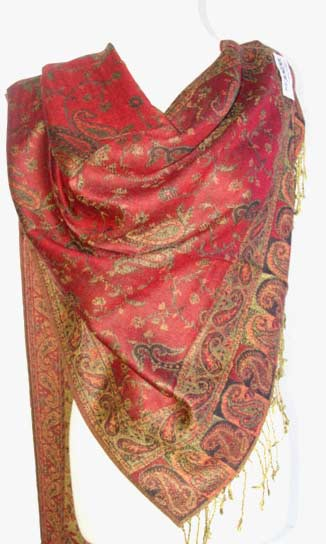 Ladies pashmina shawls in pinkcolor for winter season