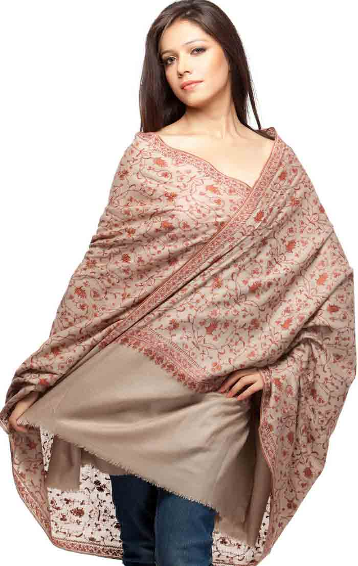 Ladies pashmina shawl designs for winter season