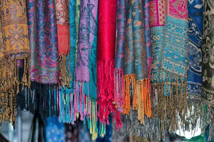 Ladies pashmina shawls in multi colors for winter season