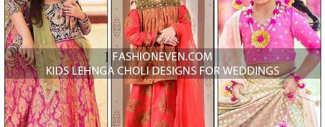 Latest kids lehnga choli designs for weddings