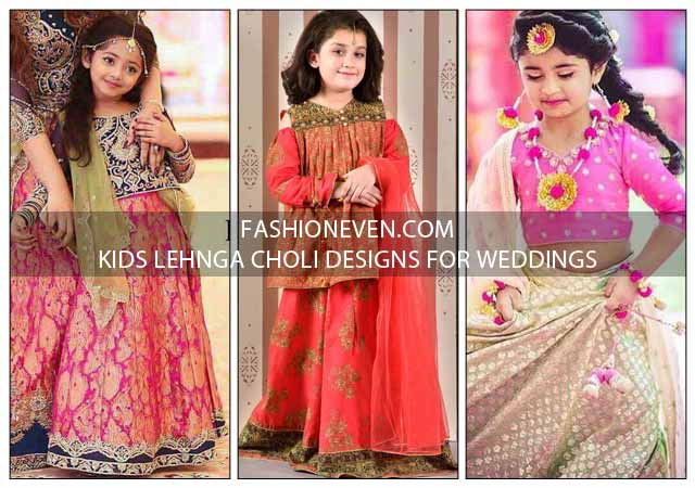 Latest kids lehnga choli designs for weddings