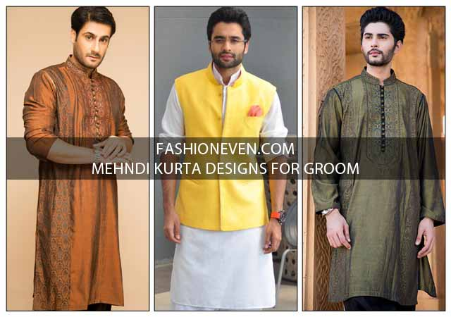 Latest Mehndi Kurta Designs For Grooms In 2018