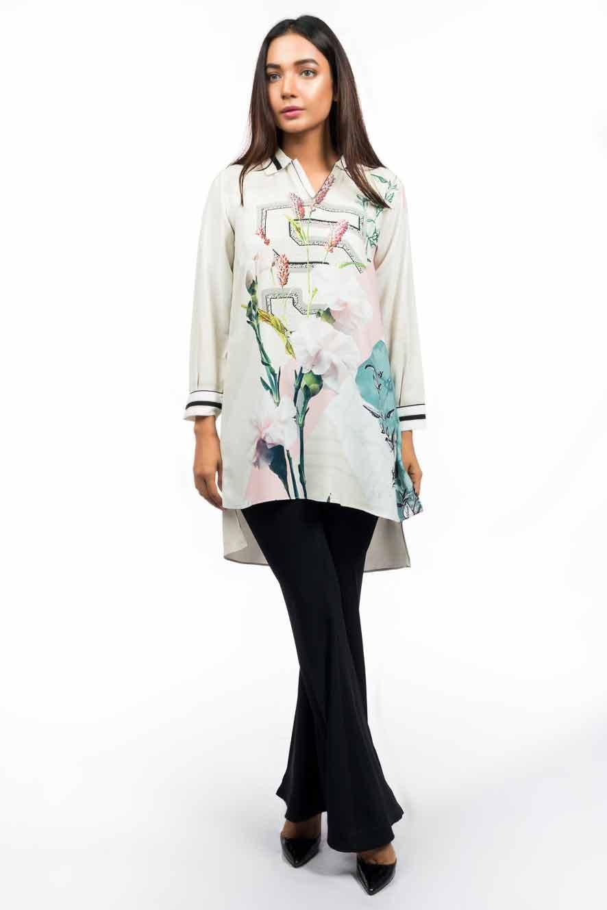 Pakistani casual high low shirt designs