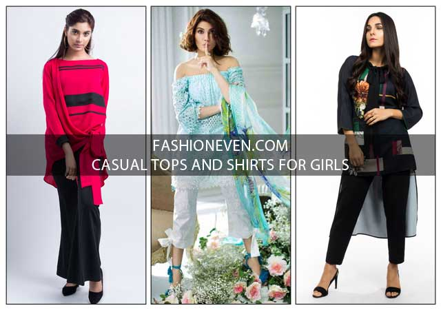 Pakistani Casual Tops And Shirt Designs For Girls