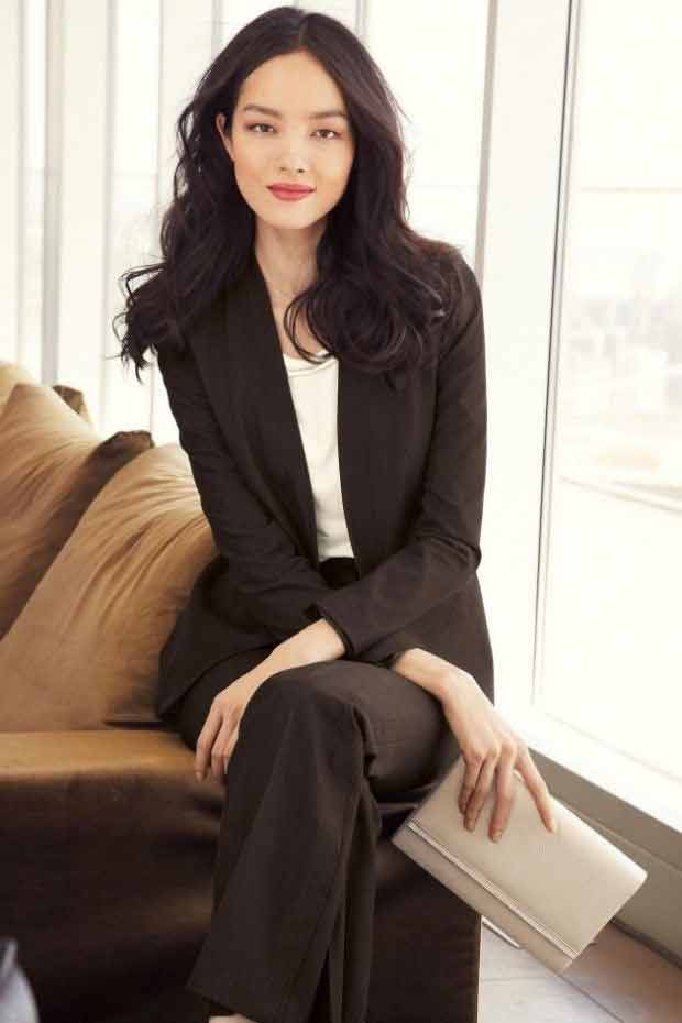 Latest black business suits for women