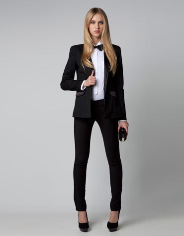 Latest black pants coat for women