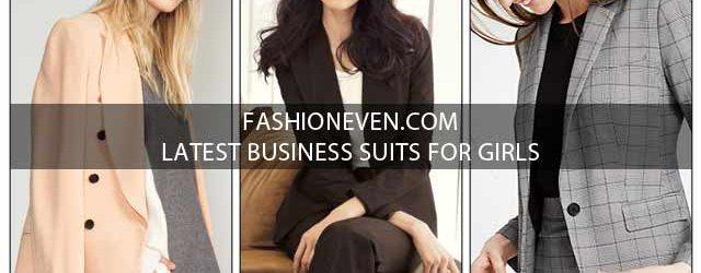 Latest peach black and grey business suits for women