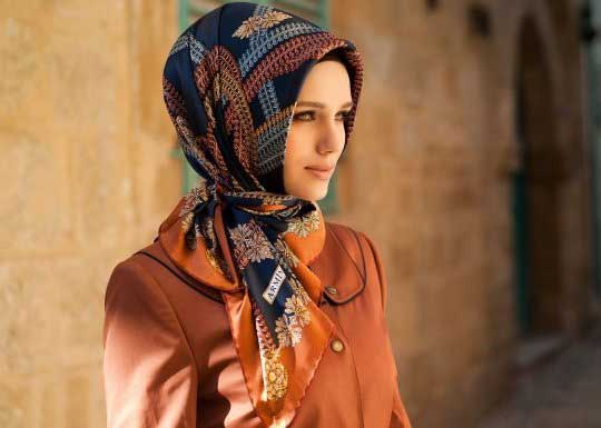 Latest head scarf style for Pakistani women