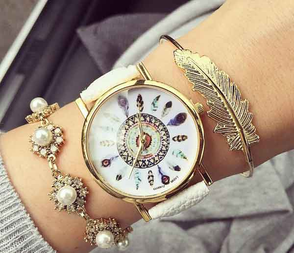 Latest bracelet wrist watch for women