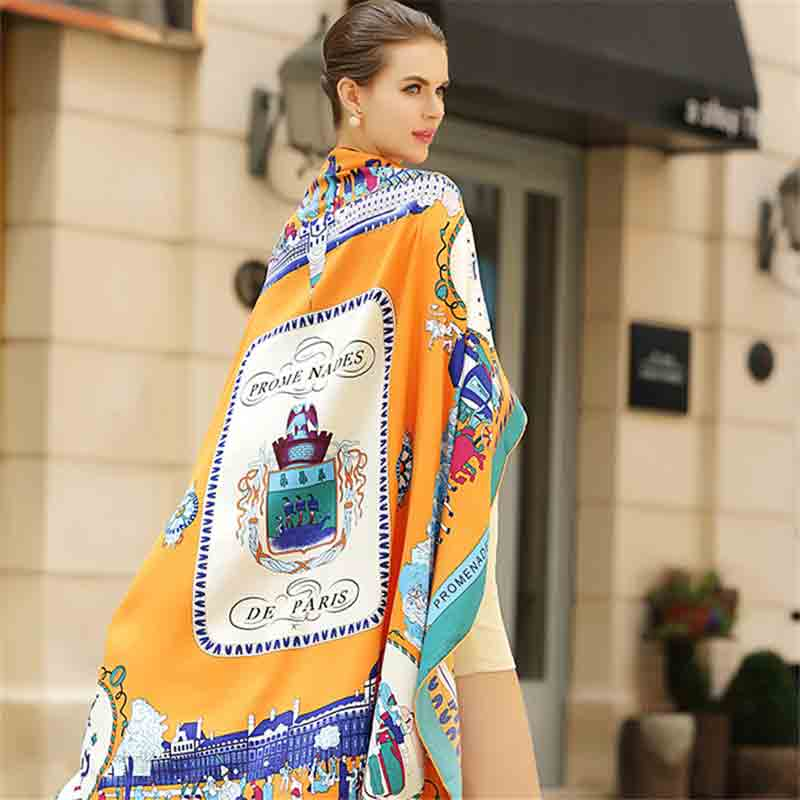 Latest orange scarf fashion accessories for women
