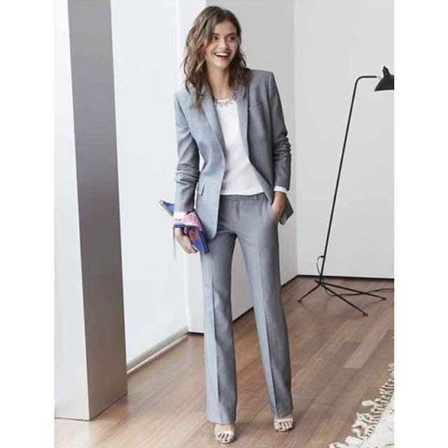 Ladies business suits in grey color