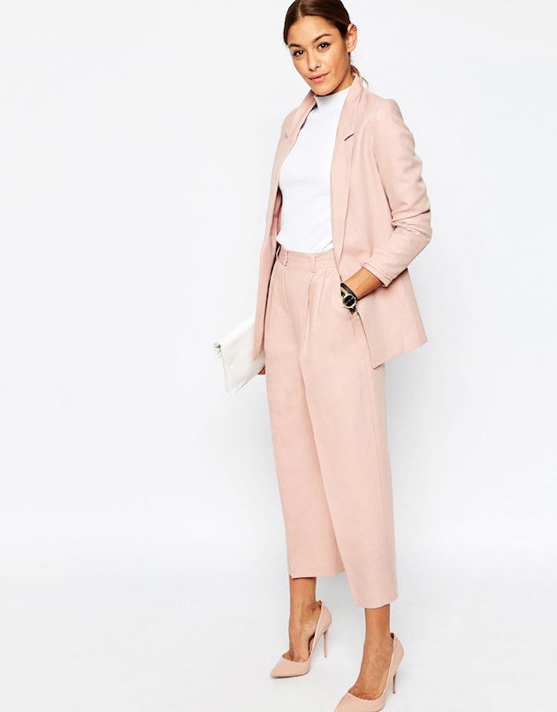 Latest pastel trouser suits for women