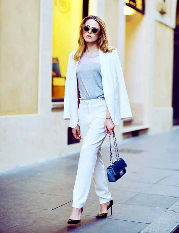 Latest white business suits for women