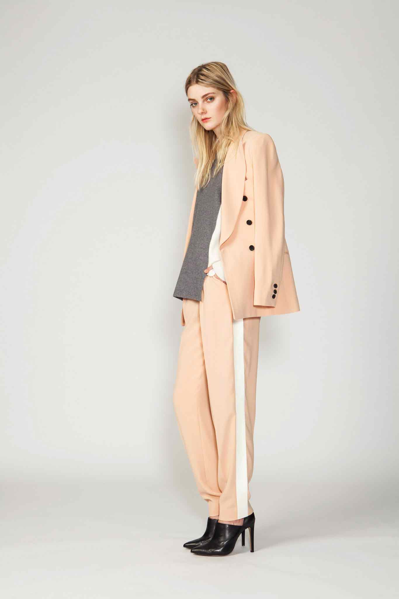 Latest light peach business suits for women