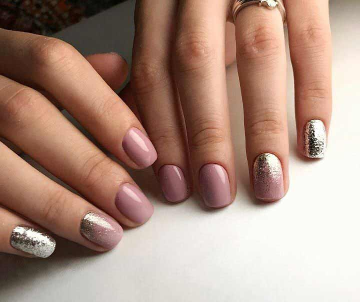 Easy Eunry nail art with glitter designs for Eid