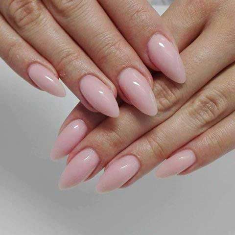 Easy vanilla ice pink nail art designs for Eid