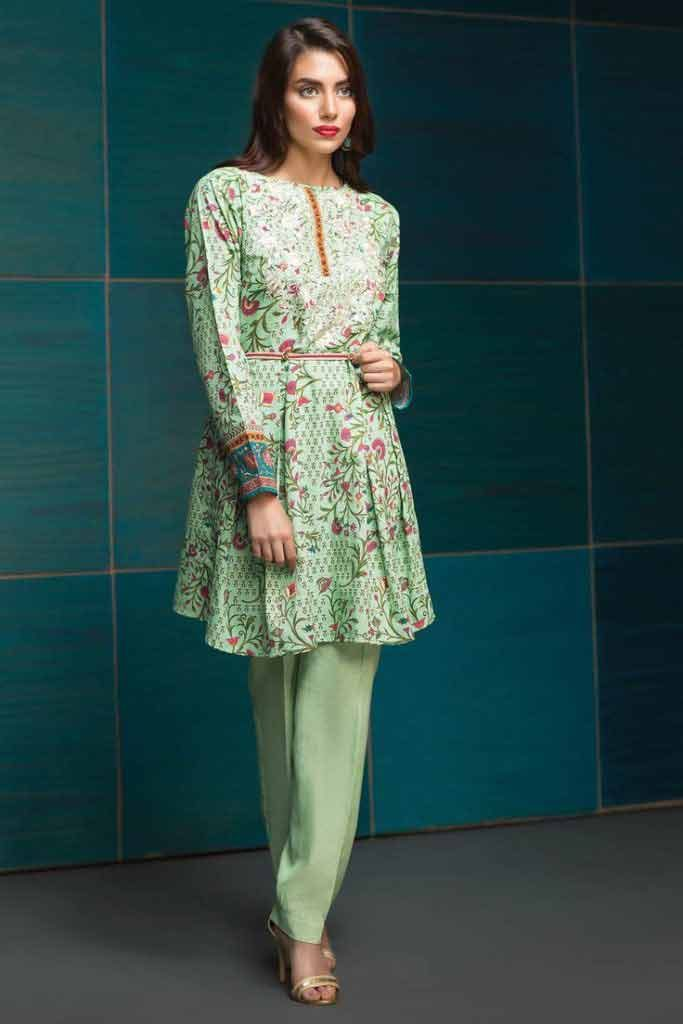 Green Frock For Eid Fashioneven