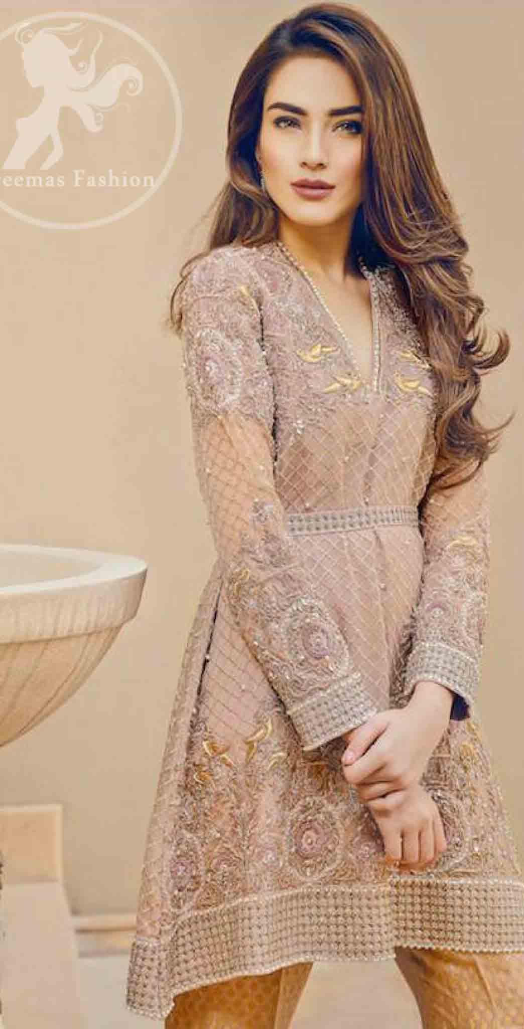 Latest knee length shirt fashion trend for Eid