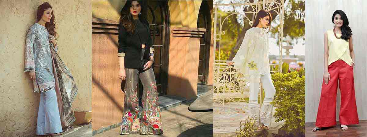 Eid fashion trends for bootcut trouser design