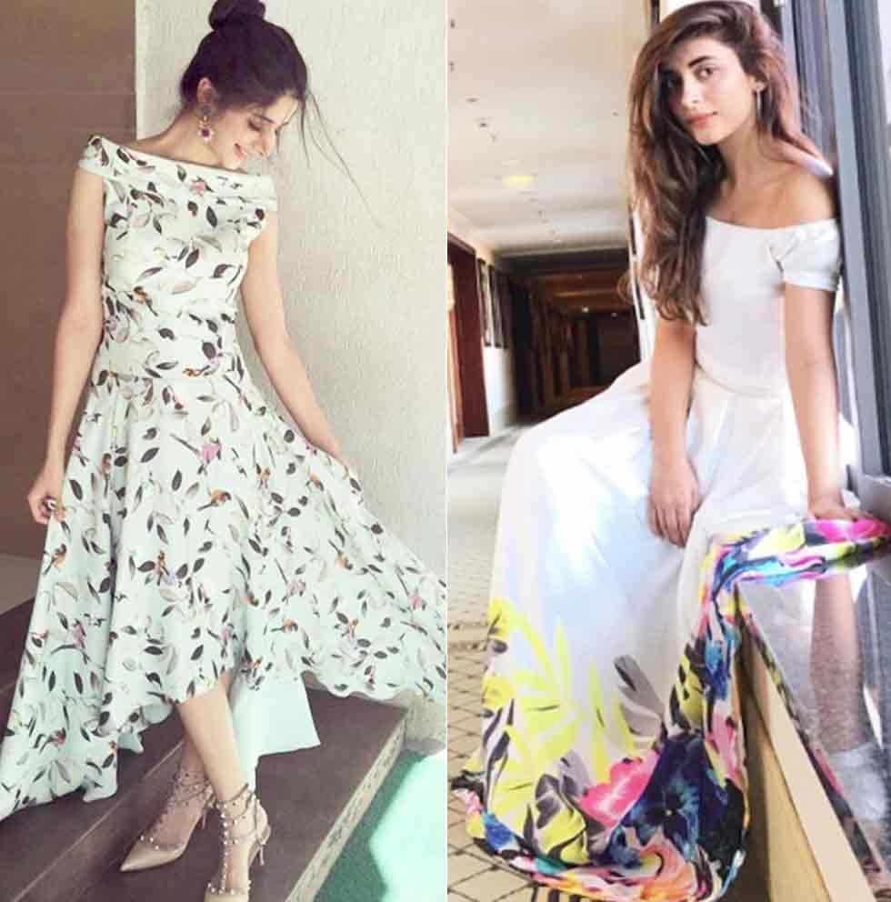 White off shoulder dress for Eid party