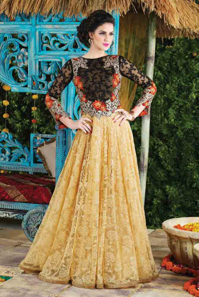 Latest Pakistani princes style frock for pear body