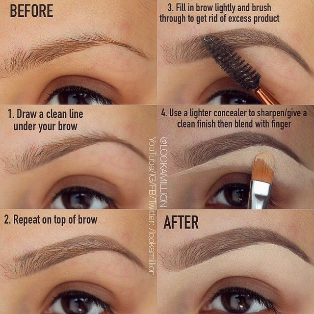 Eyebrows tutorial for Eid
