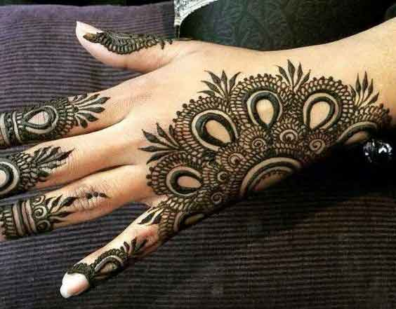 Easy back hand mehndi designs for Eid