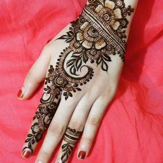 Simple Eid mehndi designs for girls