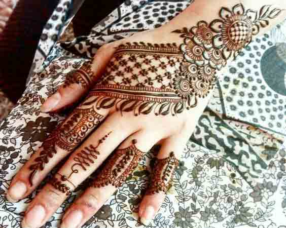 Bunch of flower mehndi designs for Eid