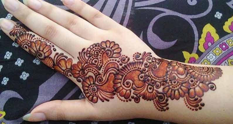 Best shaded mehndi design for Eid