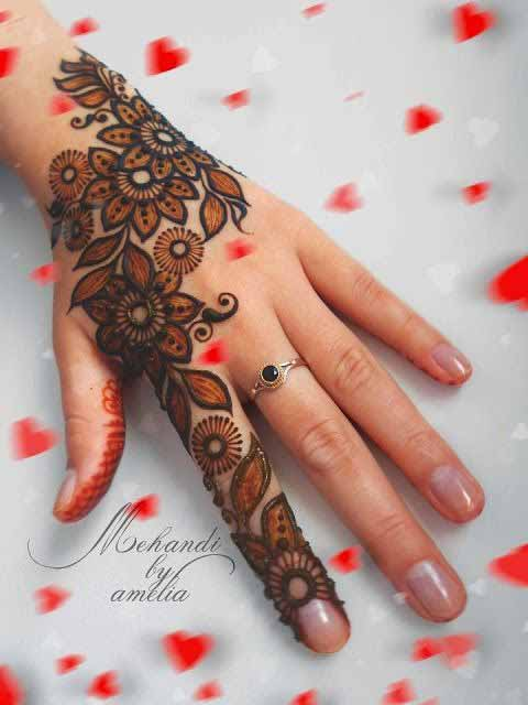 Latest shaded mehndi designs for girls