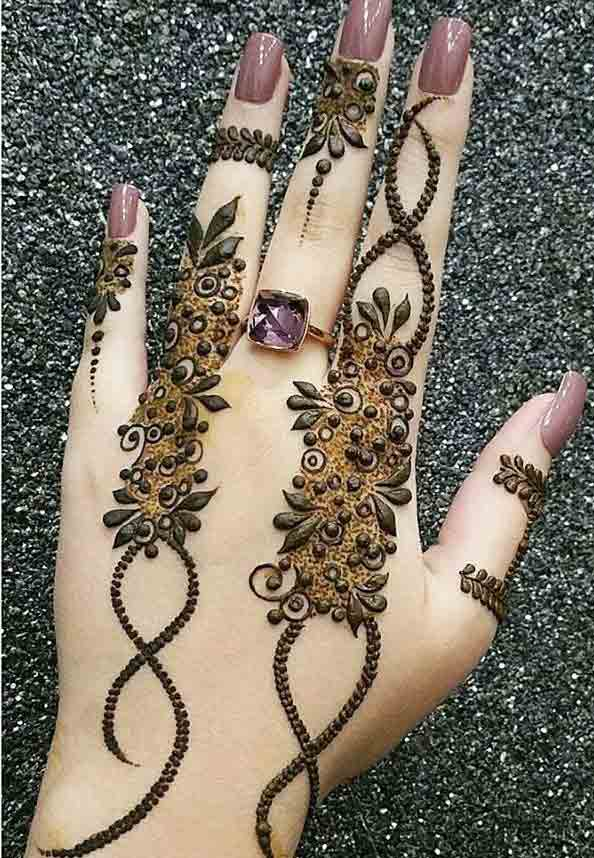 Easy Eid mehndi designs for fingers