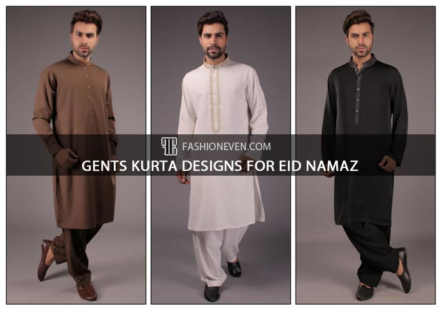 Latest black brown and white gents kurta designs for Eid namaz