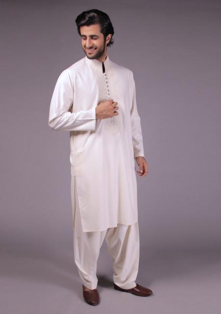 Latest gents white kurta designs for Eid