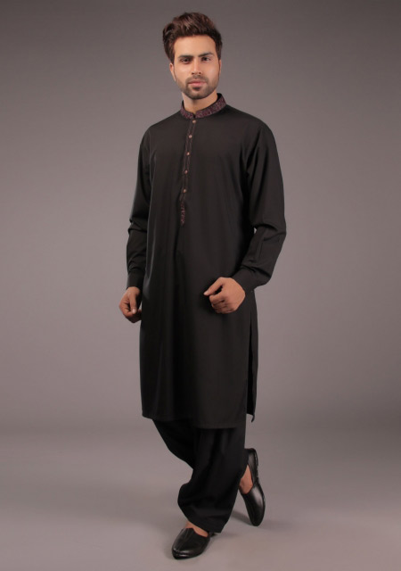 New black kurta style for Eid namaz